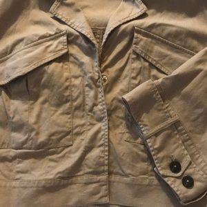 Lane Bryant size 20 cropped khaki jacket.